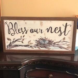 """Bless Our Nest"" Wall Art"